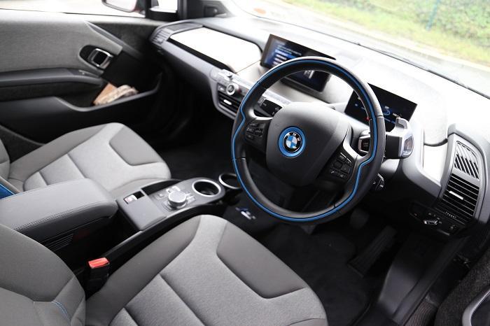 Inside i3 electric car