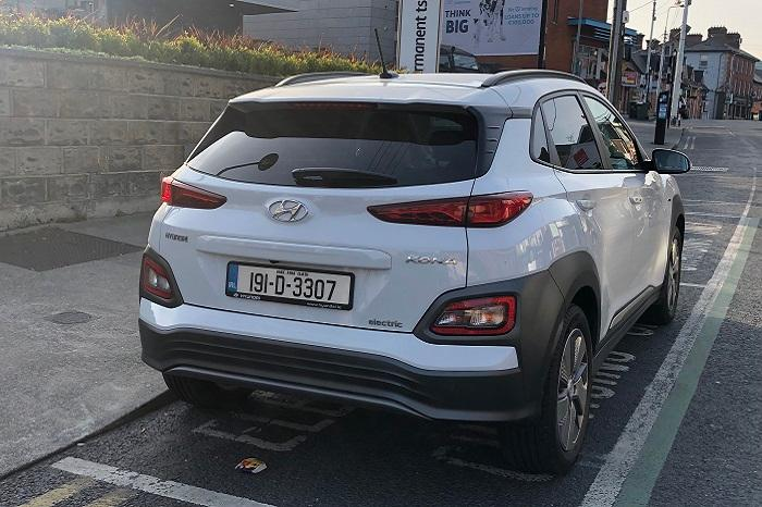 Rear Hyundai EV